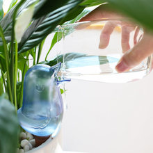 Домашнее креативное растительное растение цветы в горшке автоматический