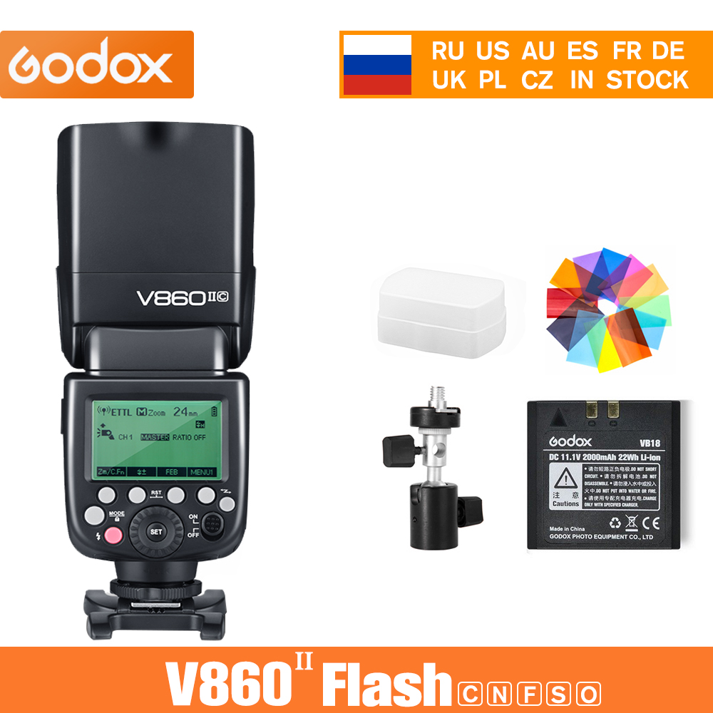 Godox Ving V860 II V860II Speedlite Li ion Battery Fast HSS Flash For Sony A7 A7S A7R for Nikon Canon for Olympus Fuji Flashes Consumer Electronics - title=