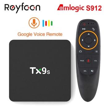 TX9s Android Smart TV Box Amlogic S912 2G 8GB 4K 60fps Fast TVBox 2.4G Wifi 1000M Support Netflix Youtube Google Play PK S905X3 tanix tx8 max tv box amlogic s912 octa core cpu android 6 0 os bluetooth 4 1 1000m lan