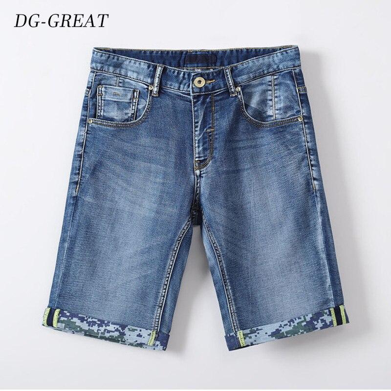 2019 Summer New Men's Stretch Short Jeans Fashion Casual Slim Fit Elastic Denim Shorts Multi-pocket Male Pants Brand Clothes