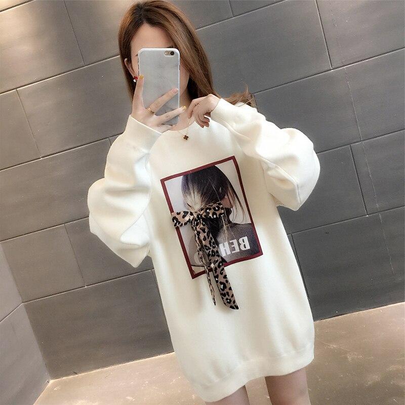 Automne limitée dans le temps coton Standard complet femmes pull ample chandail fond 2019 nouveau Net Air étranger T-shirt pour les femmes