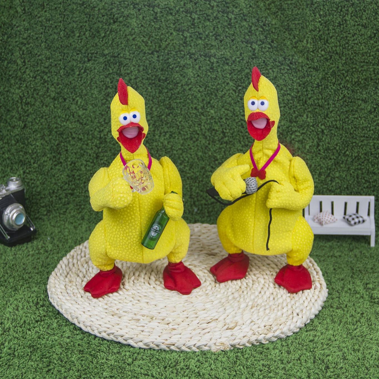 PA Mak Screaming Chicken Innovation Magnet Control Switch Dianyuansu Dong Ji Surprise Gift Plush Electric Doll Popular