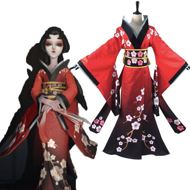 Game Identity V Cosplay Costumes The Geisha Wintersweet Michiko Cosplay Costume Halloween Party Women Anime Cosplay Costume