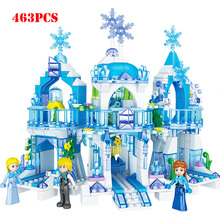 Frozens Princess Figures Snow Queen Ice Castle Model Building Blocks Compatible Legoeds City Friends Bricks Toys For Children