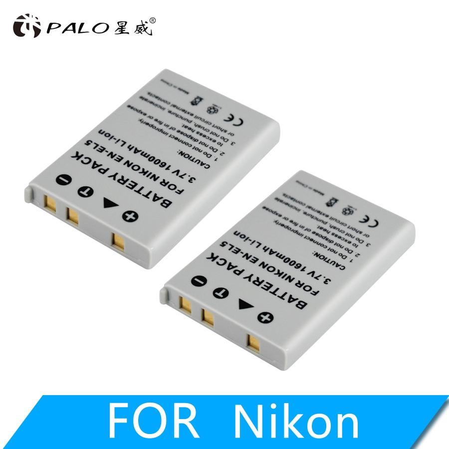 PALO 1600 mAh EN-EL5 EN EL5 ENEL5 Digital camera Battery for Nikon Coolpix P4 P80 P90 P100 P500 P510 P520 P530 p5000 P5100 5200