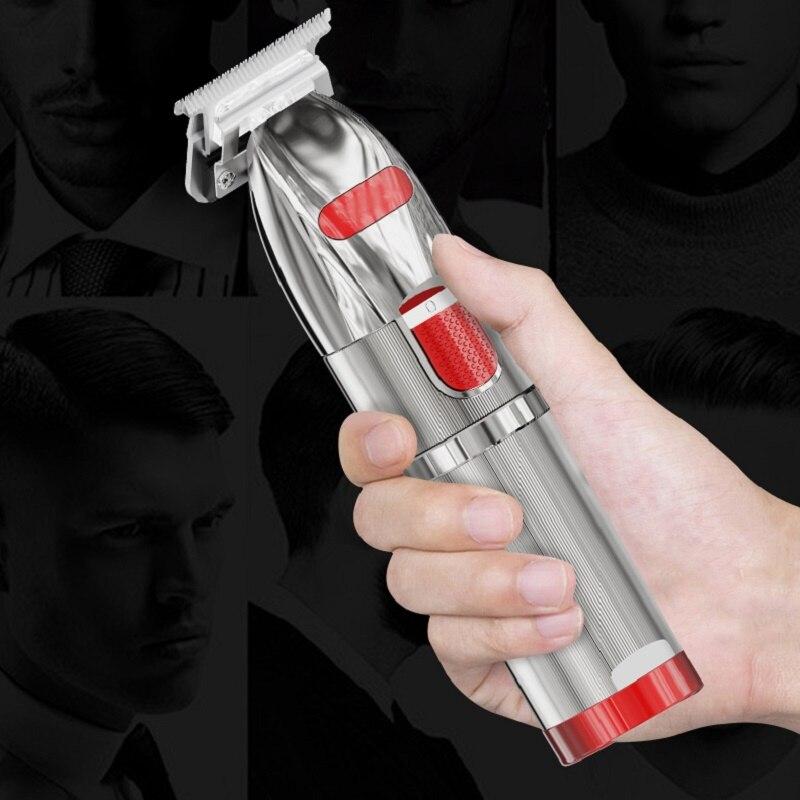 Professional Electric Hair Clipper Hair Trimmer Titanium Blade Lithium 1400mAh Haircut Machine