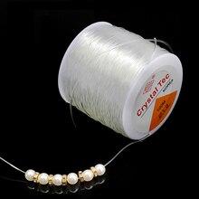 1 рулон/партия, сделай сам, кристалл, бисер, растягивающийся шнур, круглая эластичная линия, диаметр 0,5 мм-1,5 мм, для изготовления ювелирных из...