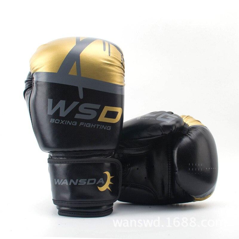 Haute qualité adultes femmes/hommes gants De Boxe en cuir MMA Muay Thai Boxe De Luva mitaines Sanda équipements De gymnastique