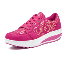 Women Body Sport Toning Shoes Lace Up Ladies Flat Walking Wedge Sneakers Black Beige Women Fitness Toning Swing Trainer