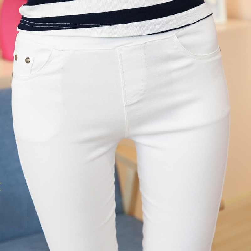 Clobee artı boyutu kadın kalem pantolon kadın rahat kapriler beyaz siyah lacivert renk kadın dip pantolon Palazzo resmi pantolon