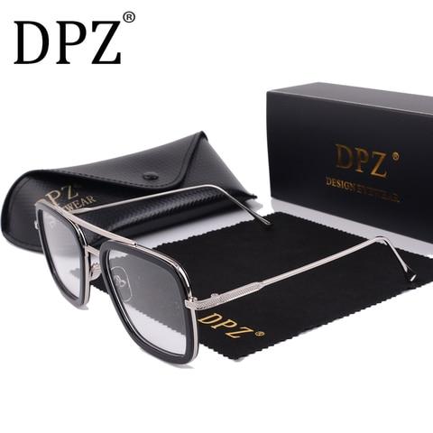2019 DPZ Avengers Tony Stark Flight 006 Style Sunglasses Men Square Aviation Brand Design Sun Glasses Oculos De Sol UV400 Karachi
