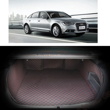 Lsrtw2017 Leather Car Trunk Mat Cargo Liner for Audi A6 C7 2011 2012 2013 2014 2015 2016 2017 2018 Rug Carpet Accessories