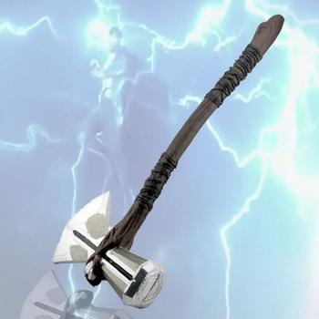 73 cm Cosplay broń 1 1 Thor Axe młotek 73 cm Cosplay broń rolę w filmie gry Thor młotek Axe Stormbreaker rysunek Mod tanie i dobre opinie CN (pochodzenie) Broń Armor Unisex Thor s Hammer