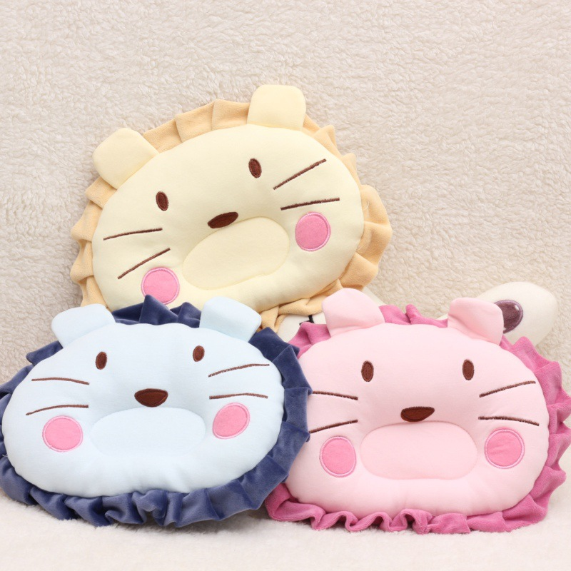 Baby Stereotyped Pillow Newborn Child Baby Pillow Anti-migraine Correction Newborn Baby Correction Thickened Lion Cotton Pillow