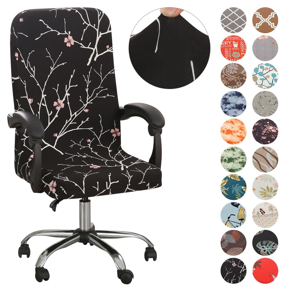 Эластичные чехлы на кресла с принтом, вращающиеся чехлы на кресла с защитой от грязи, сменные Чехлы M/L Чехлы на стулья      АлиЭкспресс