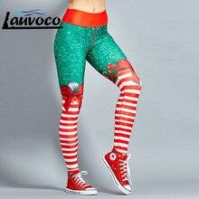 Полосатые штаны для йоги, рождественские спортивные штаны с высокой талией, женские спортивные Леггинсы пуш-ап, тренировочные компрессионные штаны для девочек, женские леггинсы для спортзала