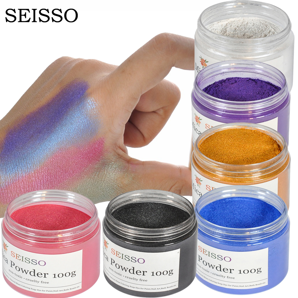 SEISSO 100 г/кор. органический порошок слюды, глиттер для ногтей, Набор для изготовления мыла, порошкообразный набор пигментов, краска для мыла, ручная мыльница Красители для мыла      АлиЭкспресс