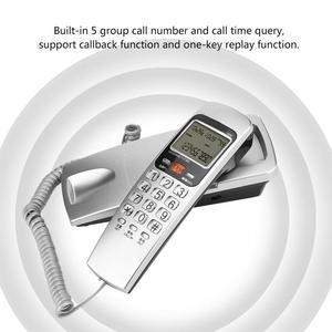 Image 2 - Telefono sabit telefon FSK/DTMF arayan kimliği telefon kablolu telefon masa koymak duvara montaj sabit uzatma telefon ev için