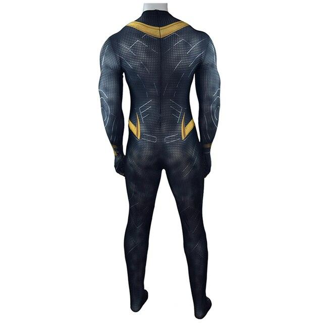 Black Panther Erik Killmonger Cosplay Zentai Halloween Costume Bodysuit One Piece Jumpsuits Digital Printing Tight Suits