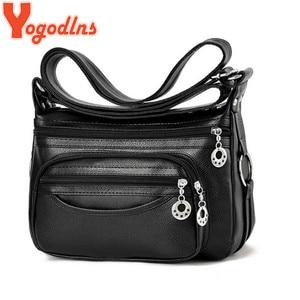 Yogodlns 2020 Crossboy Bag For Women PU Leather Ladies solid vintage Female Designer Shoulder Bags For Lady Bolsa