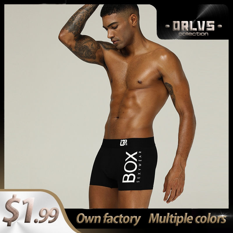 ORLVS Bamboo Sexy Underwear Men Boxer Shorts Mens Cotton Male Boxershorts OR212 Underpants Boxer Para Hombre Breathable Long