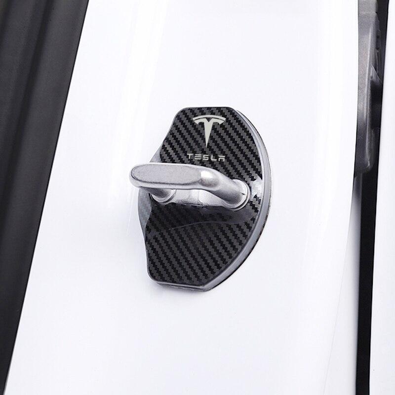 Auto-Styling auto türschloss abdeckung Auto Embleme Fall Für Tesla modell 3 modell X Y stil Roadster Zubehör
