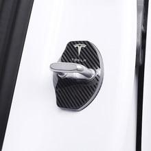 Stylizacja samochodu obudowa do zamka drzwi samochodu znaczki samochodów etui do modelu Tesla Model 3 Model X Model Y akcesoria Roadster