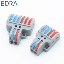5/10 pcs Mini Fast Wire Connectors Universal Compact Conductor Spring Splici Wiring Connector Push-in Terminal Block PCT-422/623
