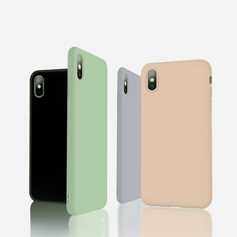 Thin Soft Case For iPhone 11 Pro Max X XS XR 7 8  Plus Original Liquid Silicone Cover Candy Color Coque Capa For iPhone 8 6 6s 7