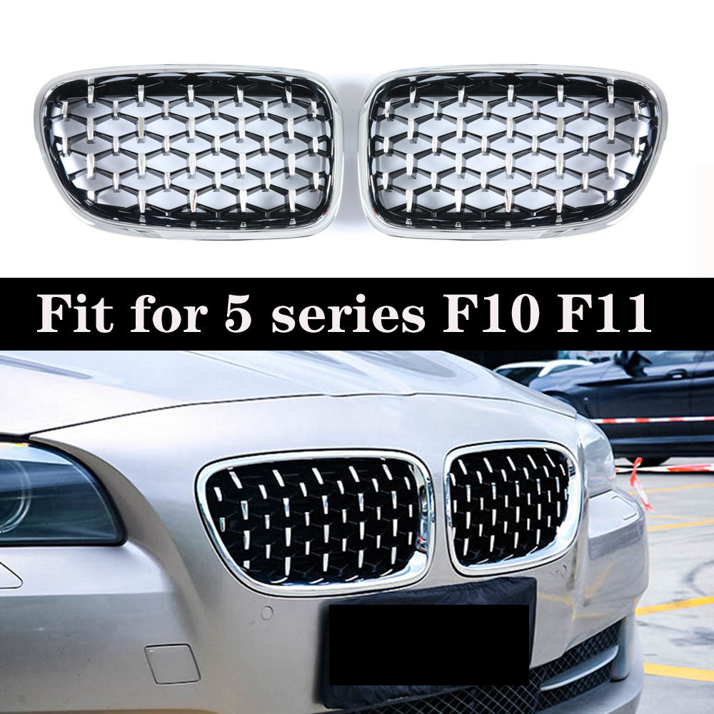 Diamond Kidney Grille Racing Grills For BMW 5 Series F10 F11 2010-2016