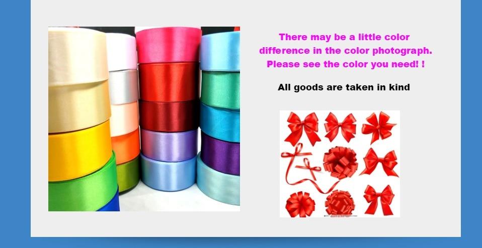 Hff7b235a45cd4526bd09a38fc7a7f2faX HL 5 meters 15/20/25/40/50mm Solid Color Satin Ribbons Wedding Decorative Gift Box Wrapping Belt DIY Crafts