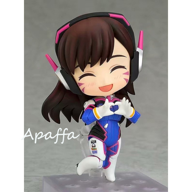 10cm Anime Game Figure Toys Overwatch D.Va 847 Hana Song Q Version PVC Action Figure Toys Collection Model Doll Gift