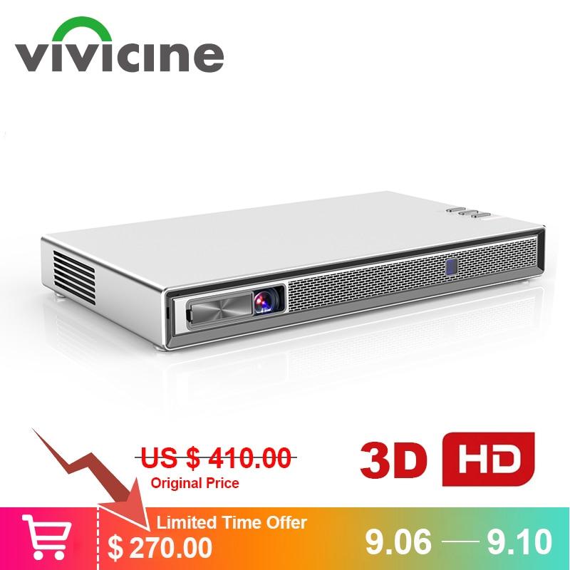 Vivicine T5 4k Mini projecteur, Android 6.0 Bluetooth 4.2, 4000mAh batterie, Smart HDMI USB PC jeu Mobile Proyector Beamer