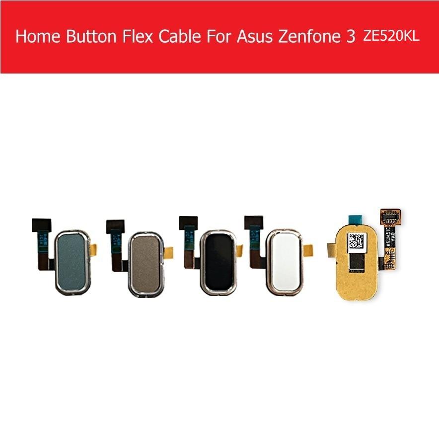 Original Home Button Sensor Flex Cable For Asus Zenfone 3 ZE520KL ZE552KL Fingerprint Touch ID Menu Return SideKey Flex Ribbon