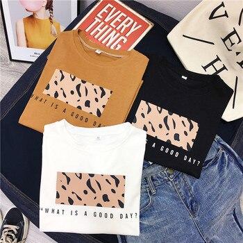 Hirsionsan Leopard Print T shirts Women 2019 Spring Summer Hot Tees Casual O-Neck Short Sleeve Harajuku Cool T-shirt Female Tops 4