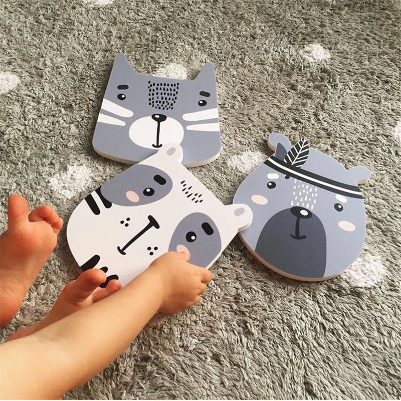 Hot Nordic Style Home Wall Ornaments Cartoon Animals Fox Baby Room Crib Decor Kids Bedroom Decoration Child Photography Props