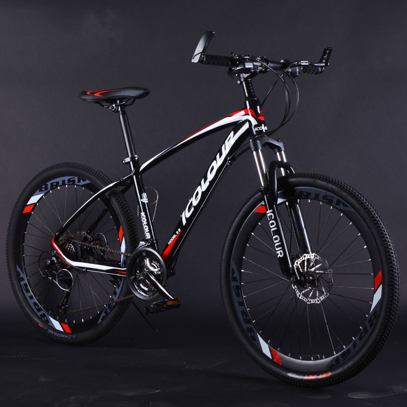Mountain Bike Aluminum Alloy 26 Inch Variable Speed Shock Absorption Double Disc Brakes For Men And Women Bicycle