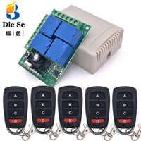 433MHz Universal Wireless Remote DC 12V 4CH rf Relais und Transmitter Fernbedienung Garage/LED/Licht/fan/Home appliance Control schalter