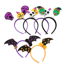 2019 Halloween Headbands for Women Skull Bat Hair Accessories Girls Kids Party Decoration Bands PartySupplies