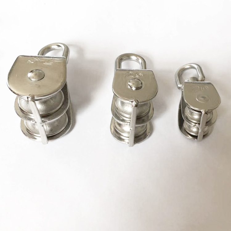 Single Pulley Double Pulley Stainless Steel Single Pulley Wire Rope Pulley Roller Lifting Sailboat Single Pulley Double Pulley