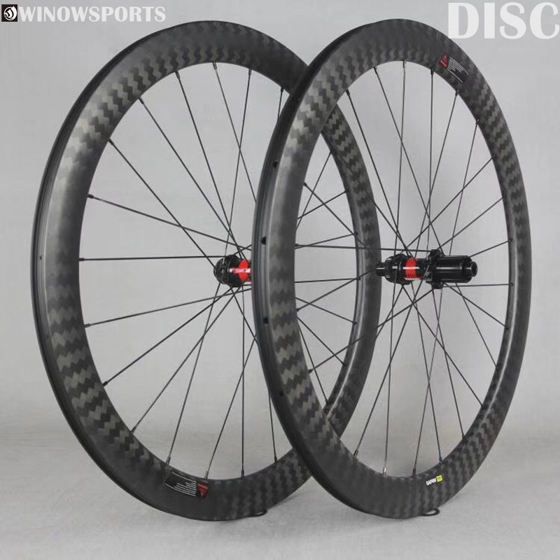 Winow carbon road disc wheelset DT240 disc brake 142mm center lock or <font><b>6</b></font> bolts sapim <font><b>spoke</b></font> nipples cyclocross gravel <font><b>bike</b></font> <font><b>wheel</b></font> image
