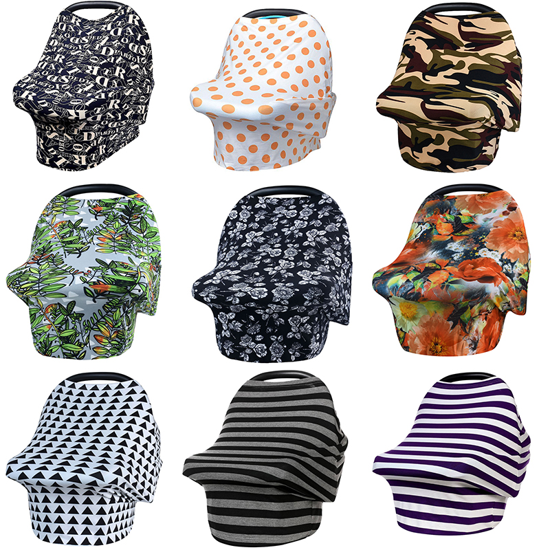 Nursing Breastfeeding Cover Scarf, Baby Car Seat Canopy, Canopies, Shopping Cart, Stroller, Carseat Covers For Girls And Boys