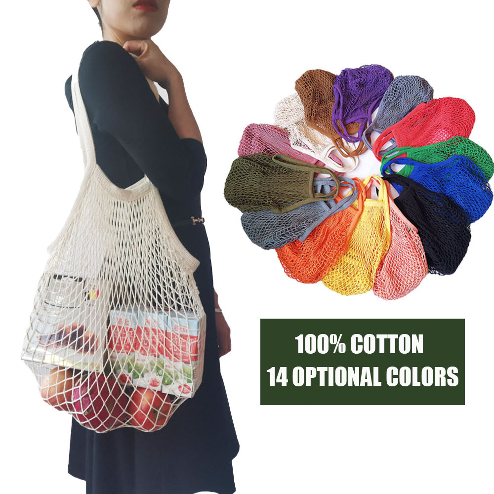 Shopping Bag Cotton Mesh Bags Eco Bag  String Bag Reusable Shopping Bag Net Bag Eco Friendly Shopping Bag Tote Bag Cotton Bag