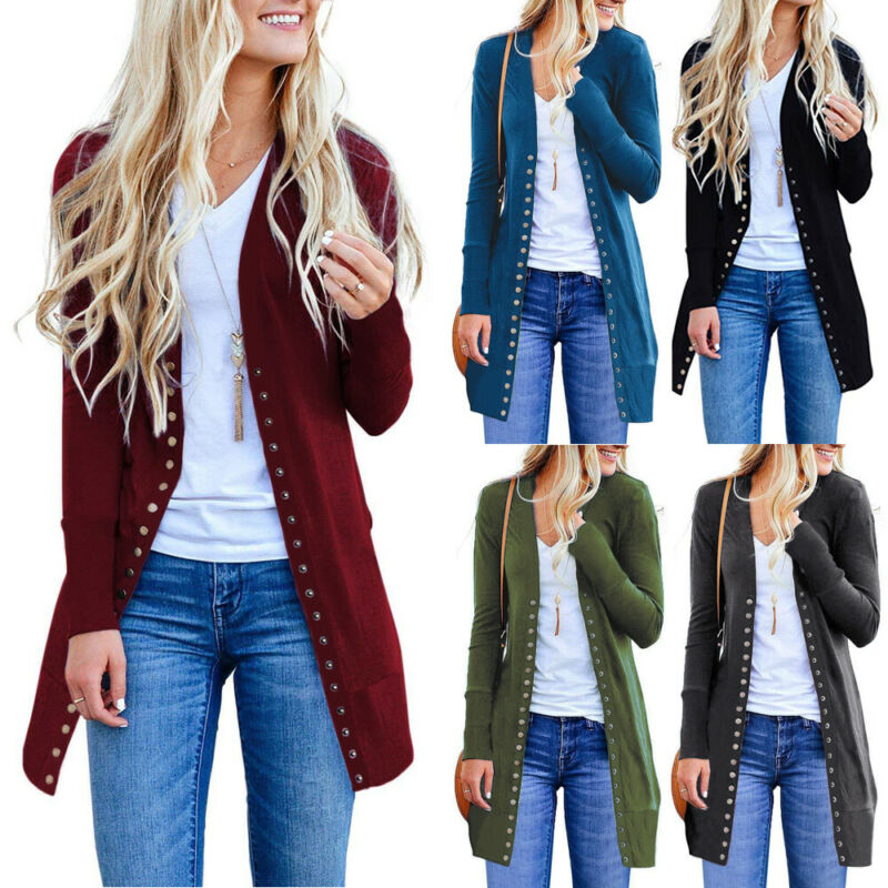 Autumn Korean Women Cardigan Loose Sweater Long Sleeve Knitted Cardigan Outwear Jacket Female Knitted Jacket Coat