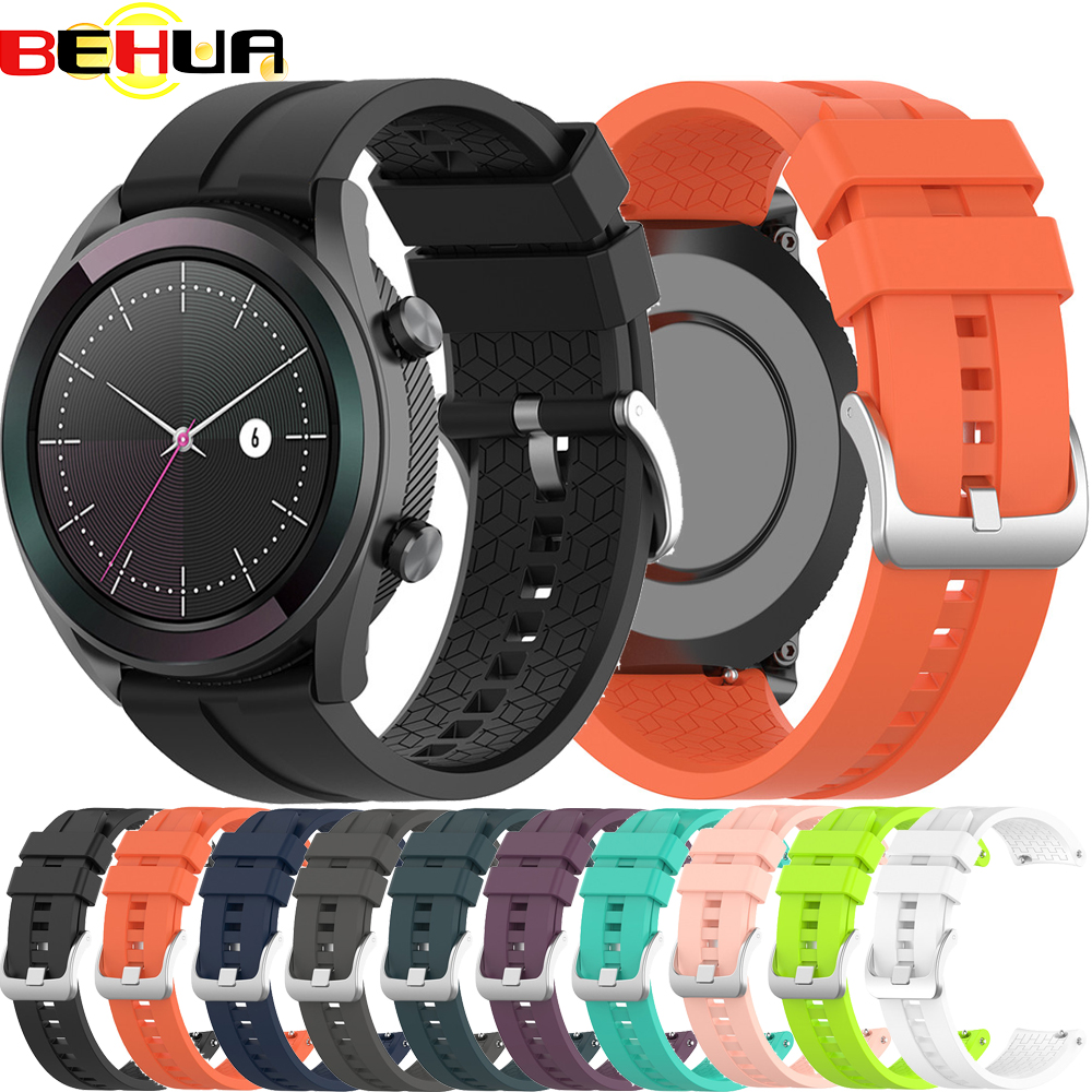 Hight Quality Silicone Wristband Strap For Huawei Watch GT 2 42mm Elegant Fashion Sports Bracelet 20mm Smart Watch Band Straps