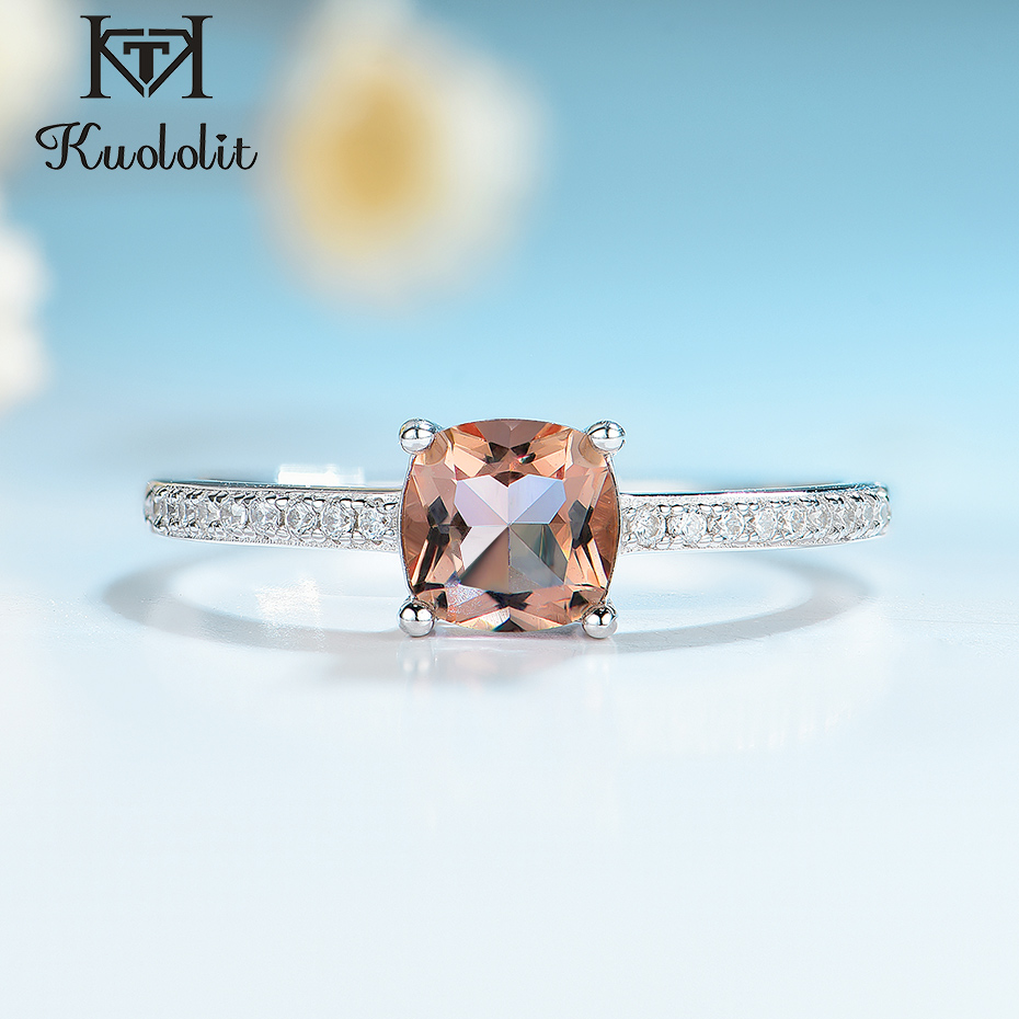 Kuololit Diaspore Zultanite Gemstone Rings for Women Girls Solid 925 Sterling Silver Wedding Engagement topaz emerald sapphire(China)