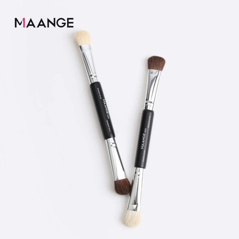 Fine 1PC Double Head Make Up Brush For Eyeshadow Blending Nasal Shadow Makeup Soft Hair Mutiply Use Portable Cosmetics Brushes
