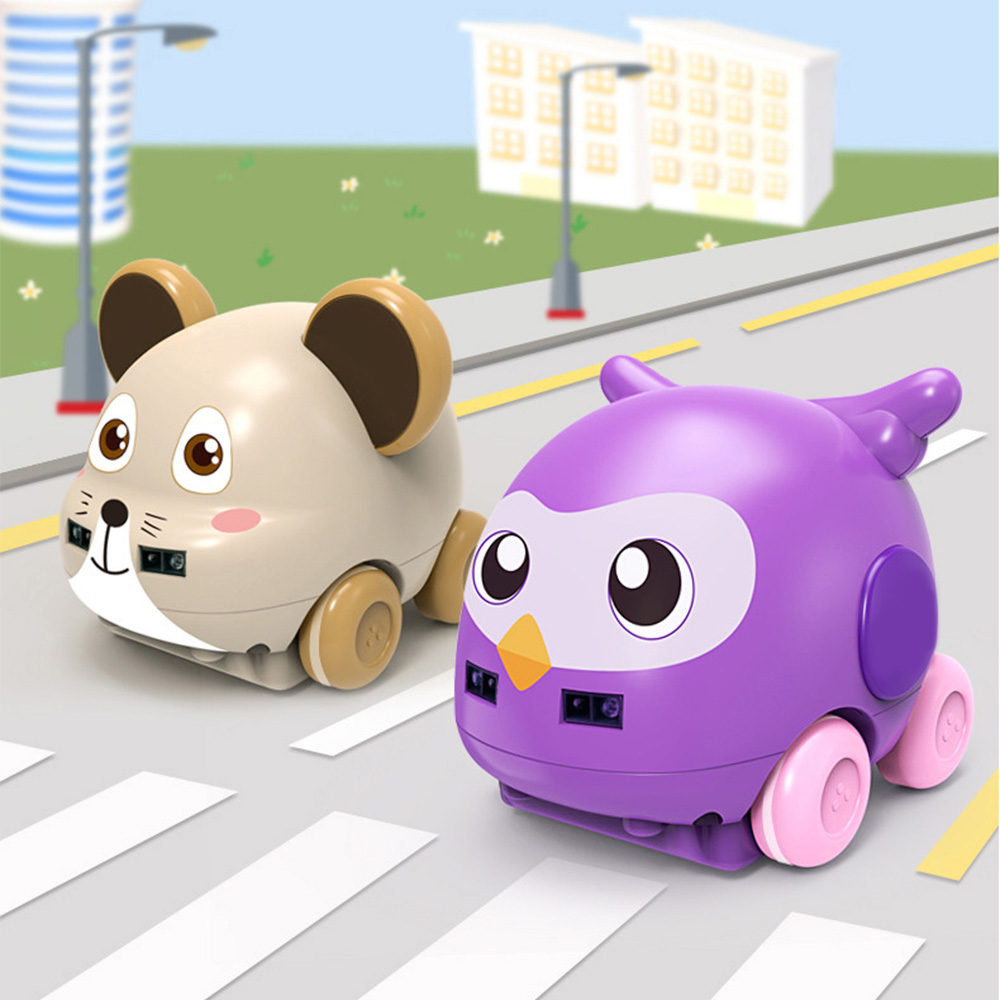 1:32 Cartoon Animal Hand Control Induction Track RC Car For Kids Gesture Sensor Following Music Car Toys For Xmas Christmas Gift
