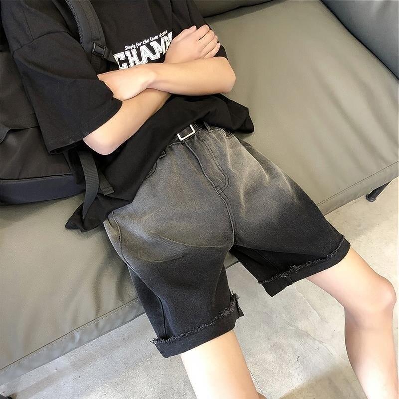 NiceMix Knee Length Men Jeans Shorts High Waisted Sweatpants Denim Short Men's Clothing Summer Joggers Plus Size Casual Pants