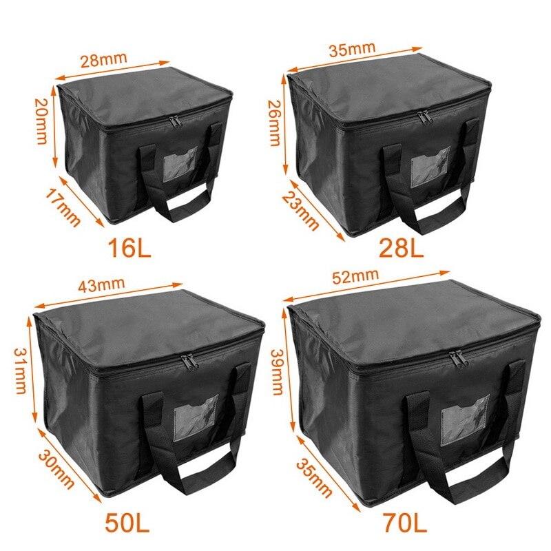 Мешок для доставки еды водонепроницаемый Изолированный многоразовый продуктовый мешок БУФЕТ сервер подогревающий лоток контейнер для лан...